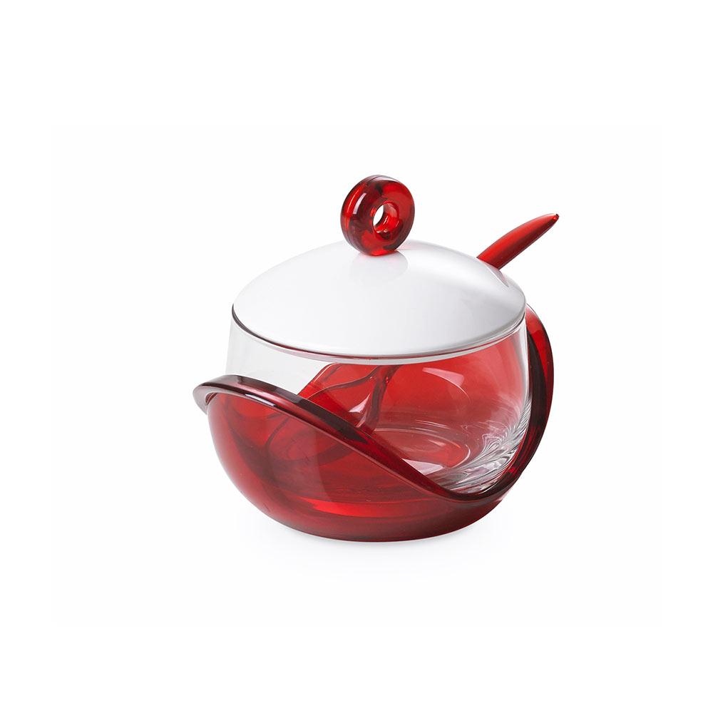 """Емкость для хранения с крышкой и ложкой 0,25 л Omada """",Trendy"""",, красная"""