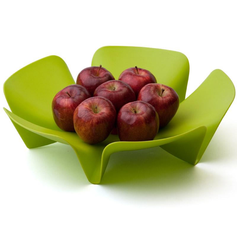 Ваза для фруктов Qualy Flower зеленая