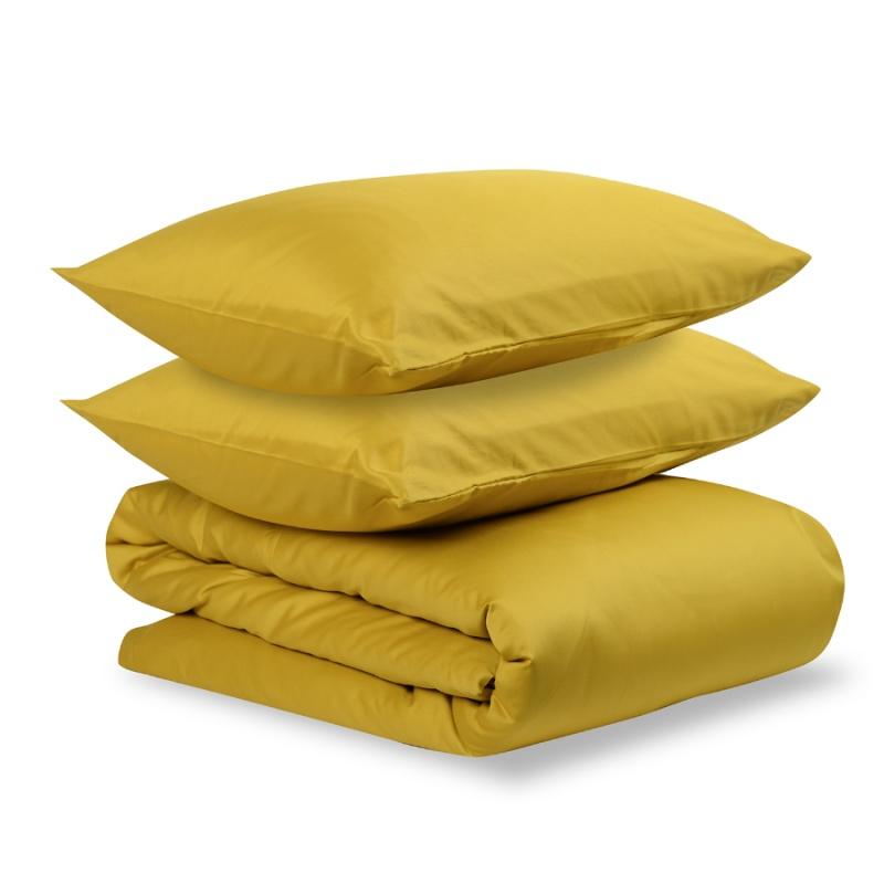 Комплект постельного белья полутораспальный из сатина Tkano Essential горчичный