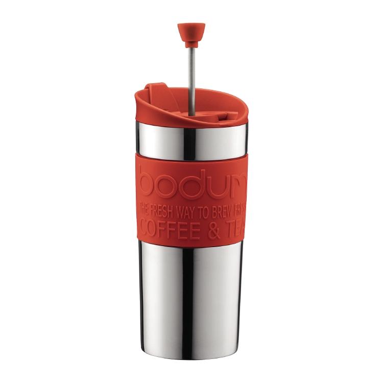 Кофейник с прессом Travel 0,35 л красный